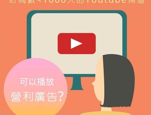 為什麼訂閱人數少於1000人的YouTube頻道可以播放廣告賺錢?