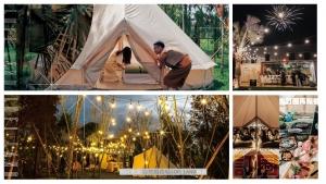 吃喝完全包式豪華露營,自然圈